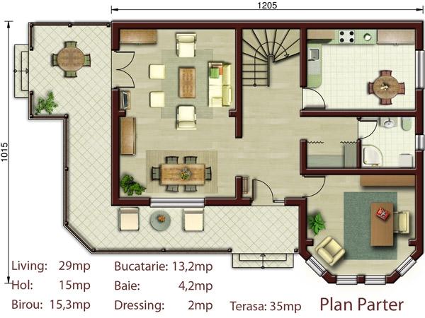 Vila carolina p m proiecte case vile - Plan de casas ...