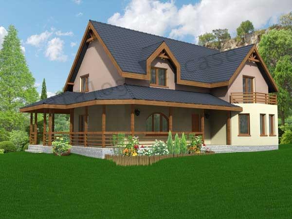 Vila carolina p m proiecte case vile for Case cu mansarda mici