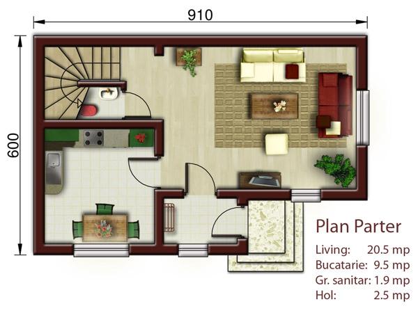 Planuri de case cu mansarda