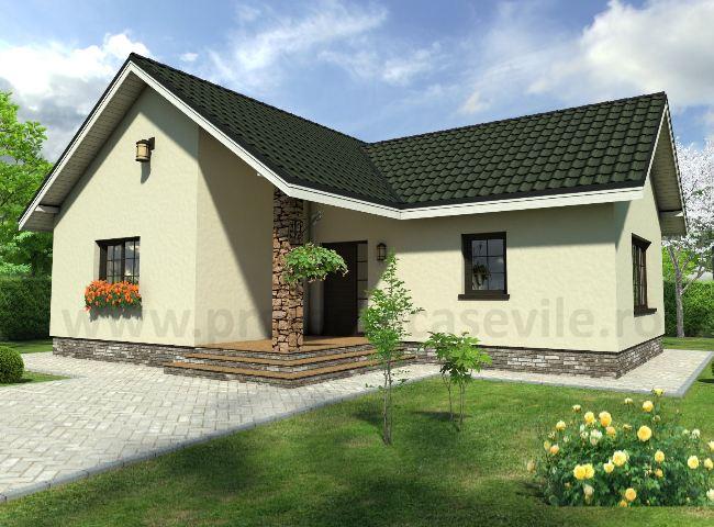 Casa parter roua proiecte case vile for Proiecte case cu etaj si terasa