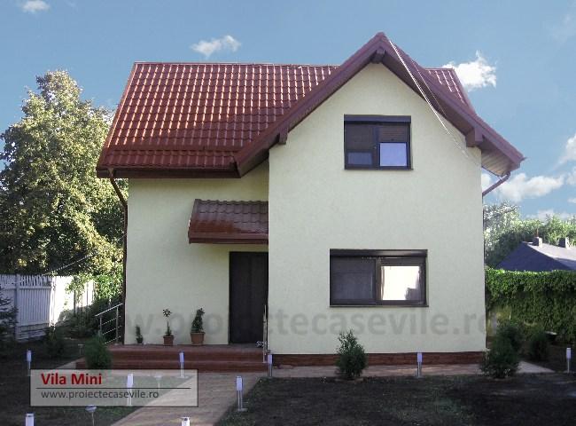 Vila mini cu mansarda proiecte case vile for Case cu mansarda mici