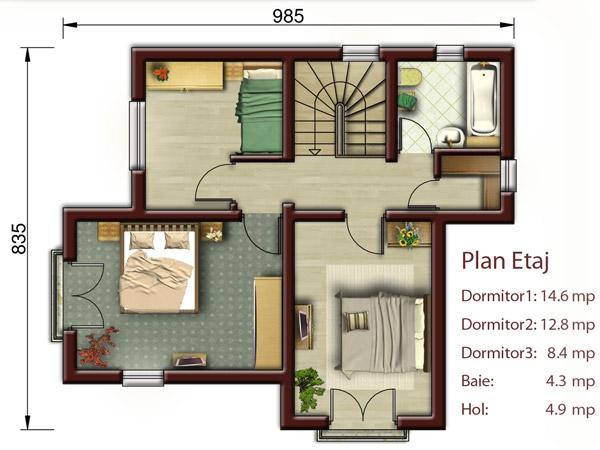 Casa Palermo Cu Etaj Proiecte Case Vile
