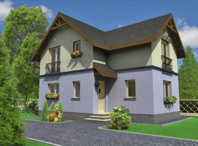 Casa eliza cu mansarda proiecte case vile for Case cu mansarda mici